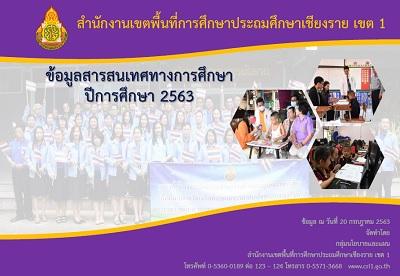 ข้อมูลสารสนเทศทางการศึกษา ปีการศึกษา 2563 สำนักงานเขตพื้นที่การศึกษาประถมศึกษาเชียงราย เขต 1